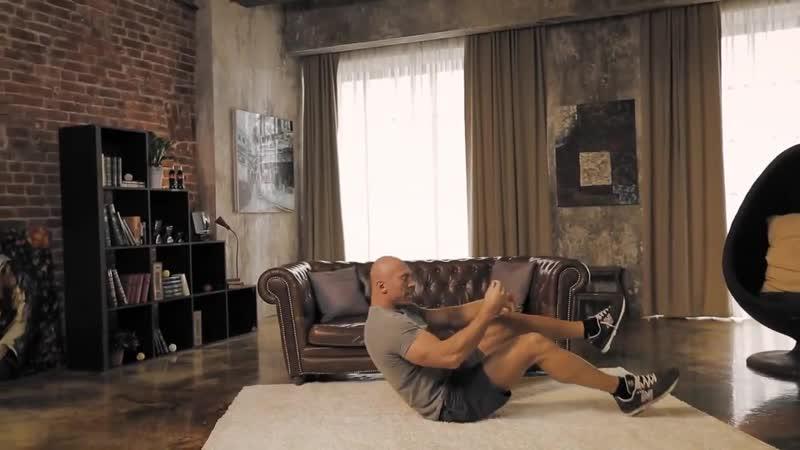 Денис Семенихин. Домашка. 03 - Пресс, диагональные скручивания на полу