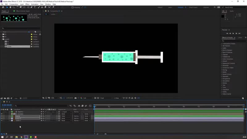 Syringe Animation in After Effects Tutorial