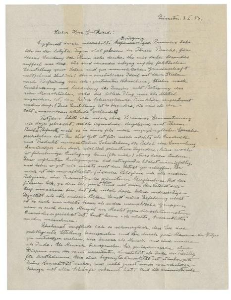 «Письмо о Боге» Эйнштейна продали почти за три миллиона долларов