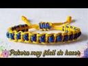 COMO HACER PULSERAS DE HILO EN MACRAME FACIL Y RAPIDA DE HACER / HOW TO MAKE LOON BANDS