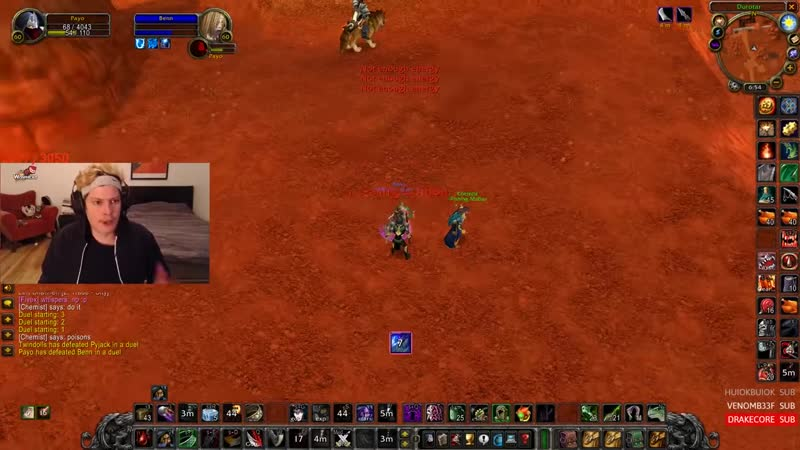 [Twitch Moments] Payo World PvP - Duels VS Sodapoppin Others - NEW KEYBOARD! - Payo Best Moments 10