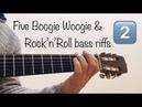 Five Boogie Woogie Rock'n'Roll bass riffs 2 Sheet music TAB