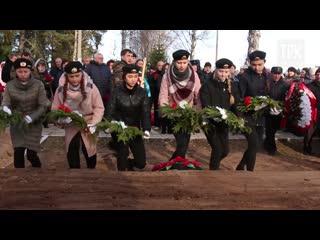 В Свирьстрое прошло захоронение останков солдат