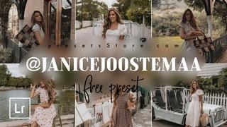@JANICEJOOSTEMAA — Free Lightroom Preset | 5 DNG Download | Coffee Preset | Tutorial