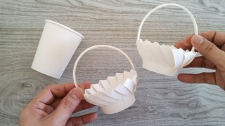 AMAZING DIY BASKET FROM PAPER CUP | VERY EASY | Perfect for Wedding Giveaways | Paper Craft Ideas