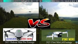 2021 Fimi Mini x8 vs 2021 Hubsan Zino Mini Pro 50/50 Half Screen Full HD Video Camera Review UK
