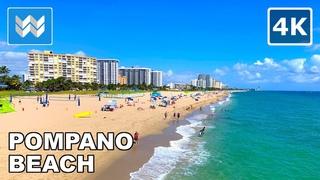 [4K] Pompano Beach Pier, Florida USA - 2021 Spring Break Walking Tour & Travel Guide 🎧Binaural Sound