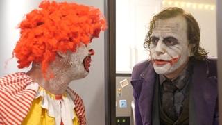 Ronald McDonald meets Joker