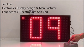 Custronics Large format 320mm LED Double digit count down timer display l Large Digital Timer