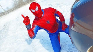 Spider Man in REAL Life stole car HULK