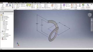 Autodesk Inventor 2016 - Spiral & Flat Pattern of Screw Conveyor Spiral Flight