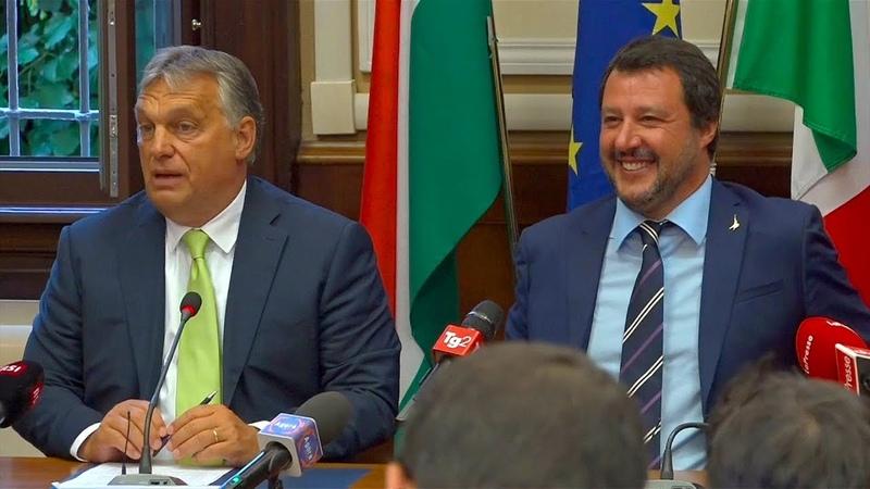 """""""Er ist mein Held"""" Orban lobt Salvini im Kampf gegen illegale Massenzuwanderung"""
