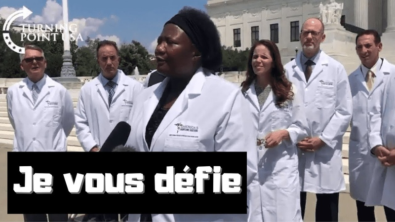 VOSTFR Le docteur Stella Immanuel défie le docteur Anthony Fauci test d'urine à l'HCQ