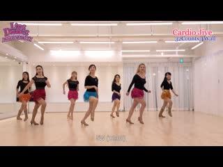 Cardio Jive l Carlene Carter l Easy Intermediate Line Dance  Demo