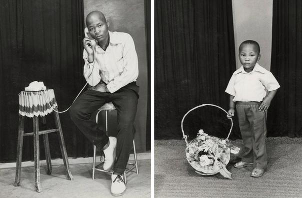 Портреты коренных жителей ЮАР эпохи апартеида
