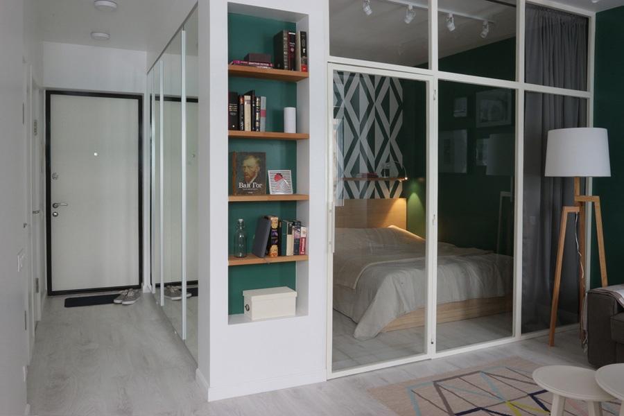 Перепланировка 1-комнатной квартиры в студию 32 м.