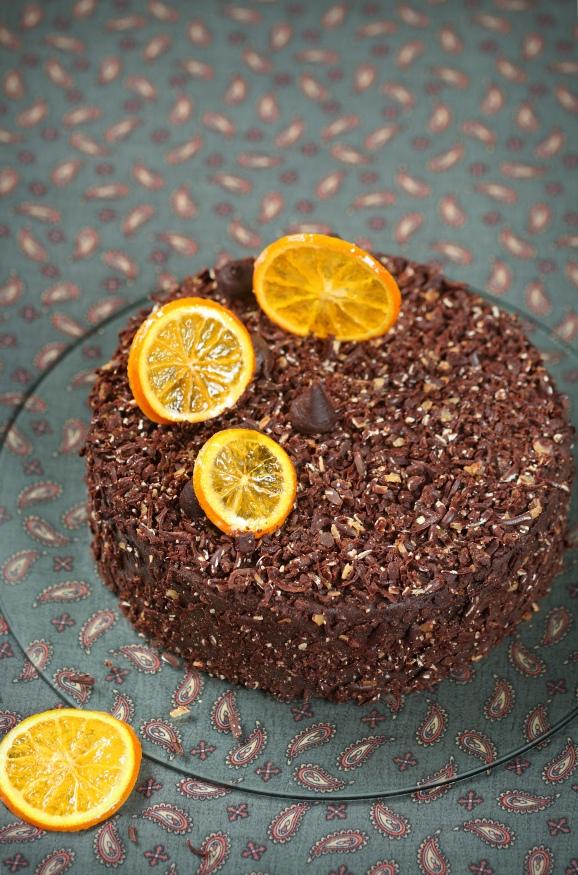 Веганский шоколадно-апельсиновый торт, изображение №3