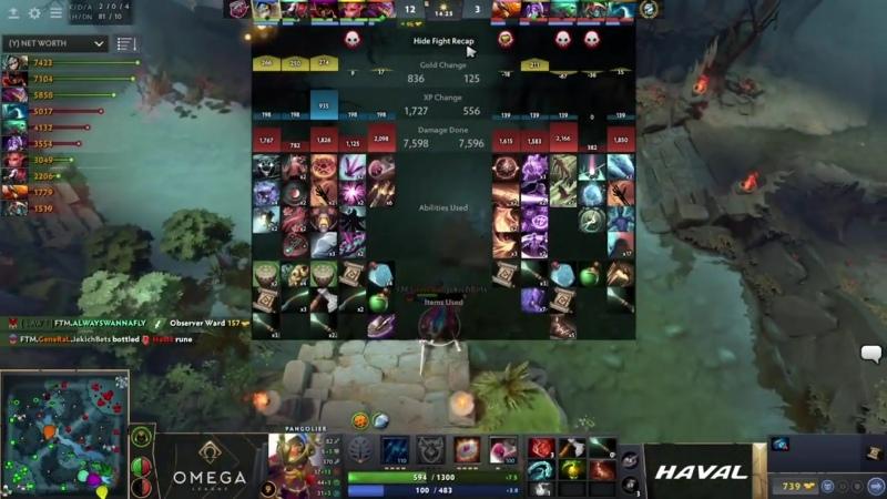 Cyber Legacy vs FlyToMoon OMEGA League Europe bo3 game 2 Adekvat CrystalM