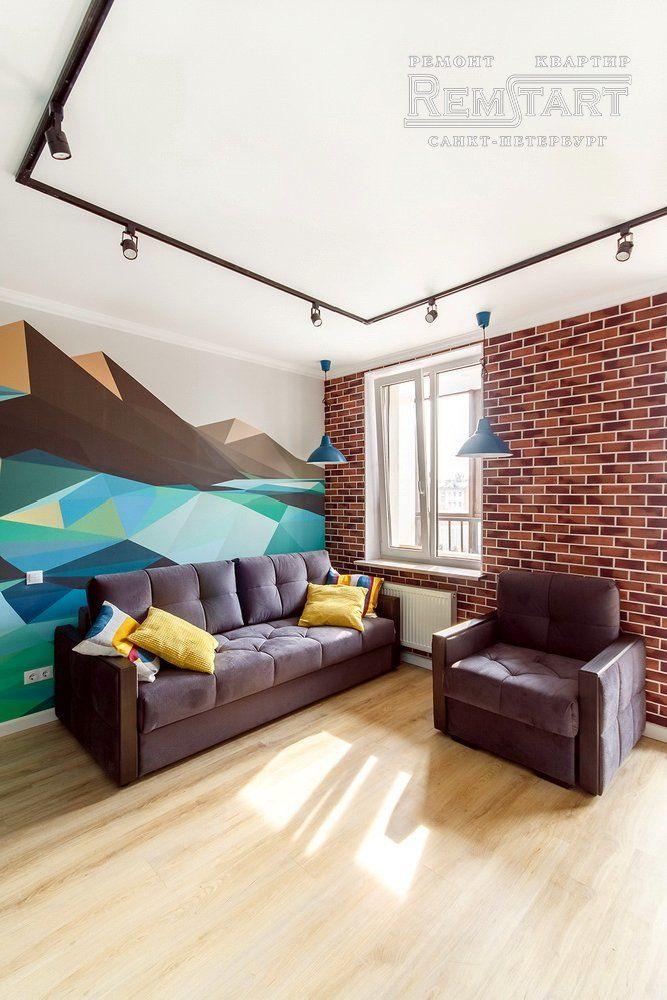 Интерьер квартиры-студии 28 м в Санкт-Петербурге.