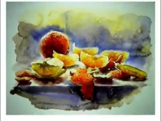 Акварель,watercolour,Acuarela,Aquarell. Солнечные дольки. Мила Наумова