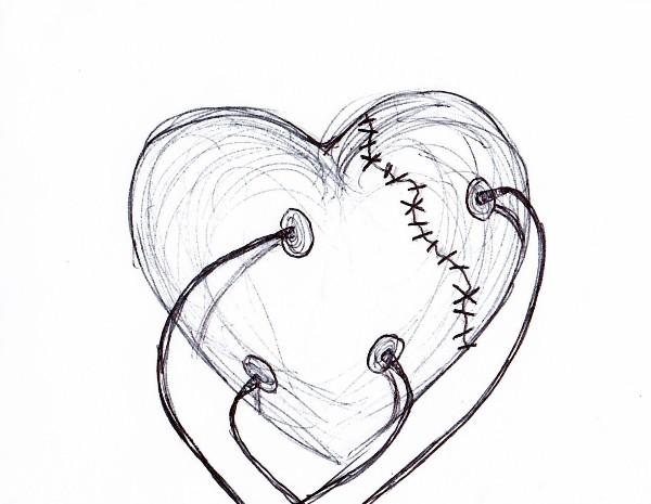 drawings of hearts - HD1024×794