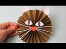 Бумажная кошка Как сделать бумаги кот поделки из бумаги