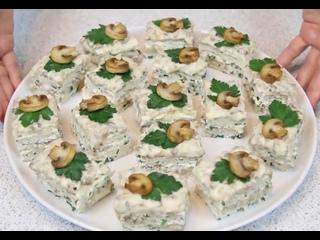 Куриные пирожные с грибным кремом, кулинария