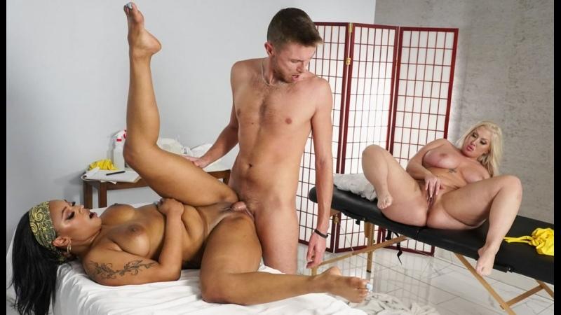 Porsha Carrera, Mz Dani Two Baddies, One Massage Booking Threesome Sex Milf Ebony Big Tits Juicy Ass Chubby