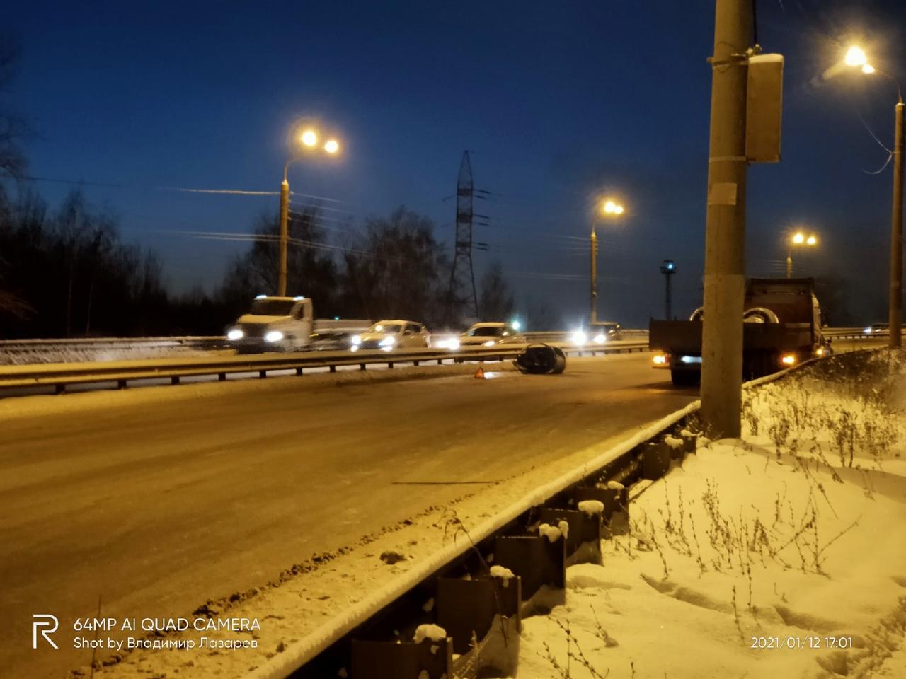 авария на Комсомольском шоссе в Нижнем Новгороде 12 января