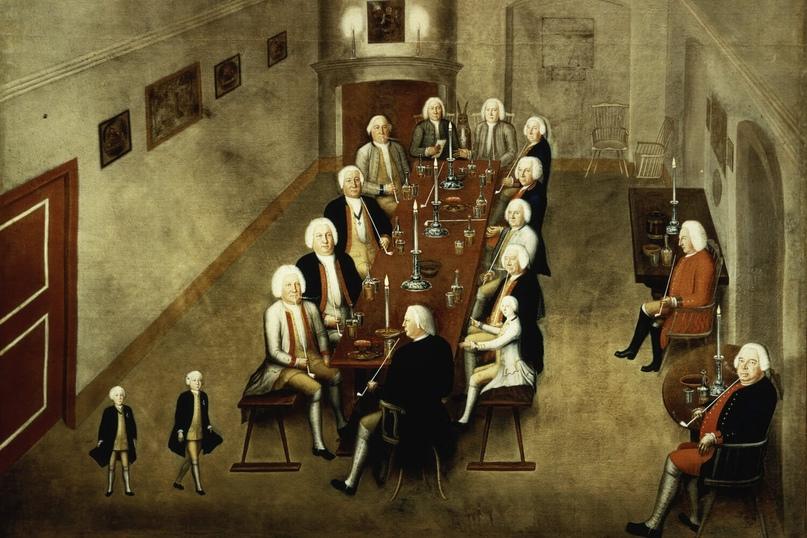 Совет по курению Фридриха Вильгельма I Прусского, c.1737 / 8