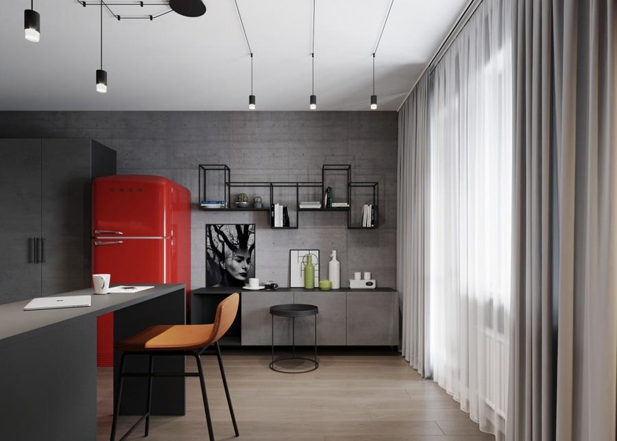 Проект маленькой квартиры-студии 18 кв.