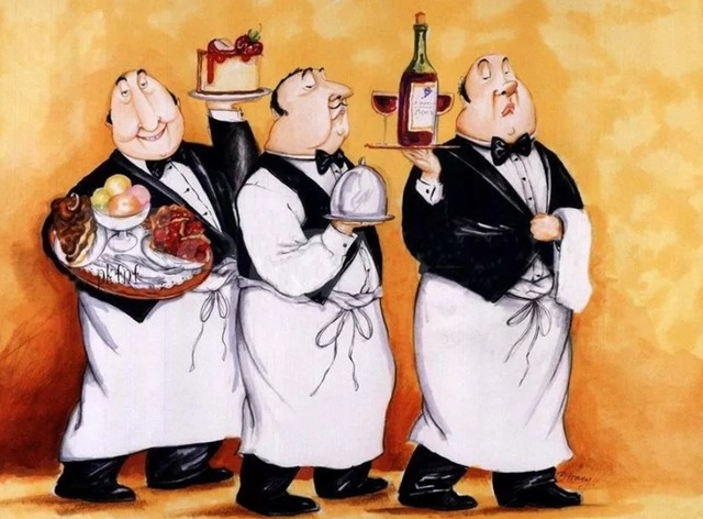 юмор и анекдоты про ресторан и официантов, анекдоты и приколы про бар и барменов,