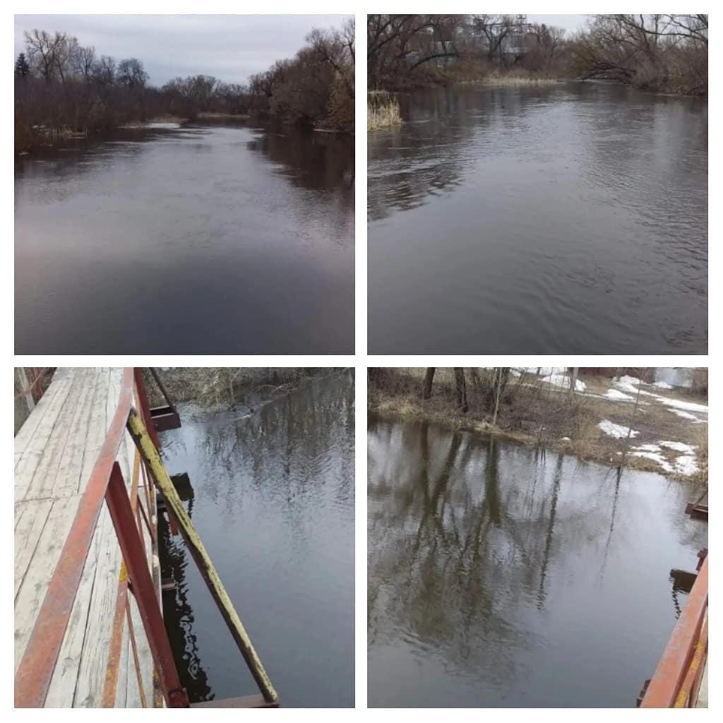 Паводковая ситуация на реке Медведице в районе Петровска на восьмое апреля