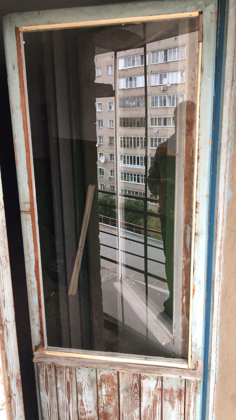 улица Упита дом 16 а установка стекла