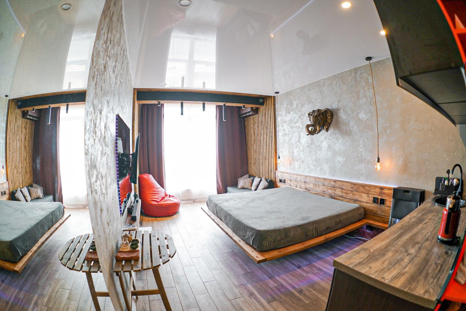 Дизайн квартиры-студии в Анапе 23 кв.