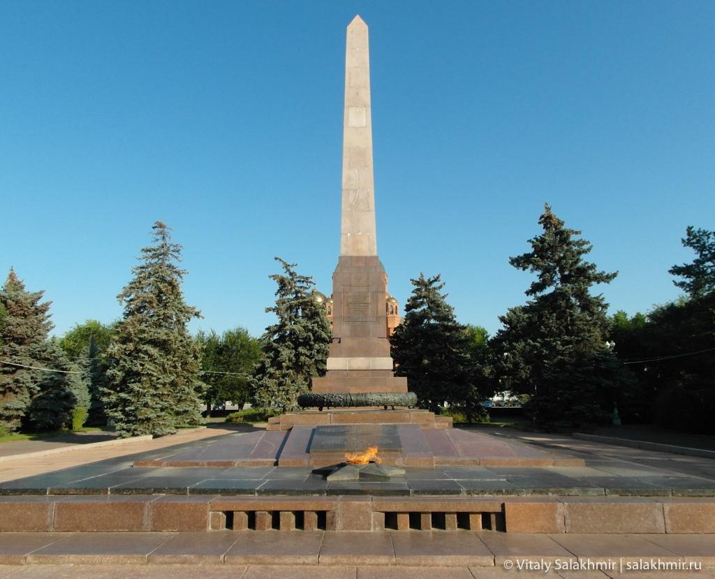 Вечный огонь на Аллее Героев, Волгоград 2020
