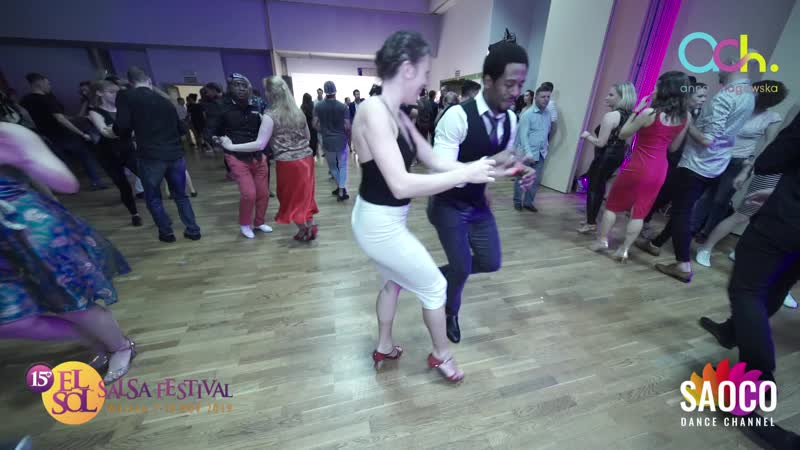 Damian H. Spencer and Iza Bogdańska Salsa Dancing at El Sol Warsaw Salsa Festival 2019, Saturday 09.11.2019