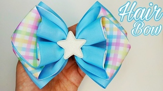 DIY Bow Clip - Accessories DIY - Hair Bows Step by Step - Hair bow made of Ribbon 4 cm wide - 🎀 - #3