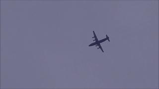 Antonov An-12 Ukraine Air Alliance fly over Basel