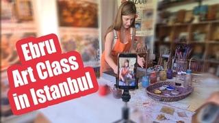 Istanbul Ebru Art Classes.Традиционное турецкое искусство Эбру. Уроки и мастер-классы в Стамбуле.