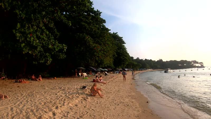 Кози Бич (Cosy Beach), закат на море, Паттайя, Таиланд, Сиамский залив. Закат солнца на море.mp4