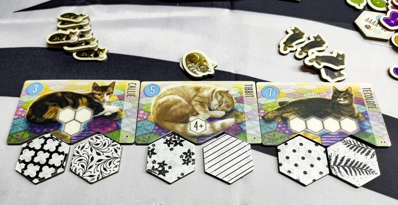 Каждую партию вам будут доступны три котика.