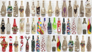 50+ Bottle decoration ideas | Bottle decoration with jute rope,clay