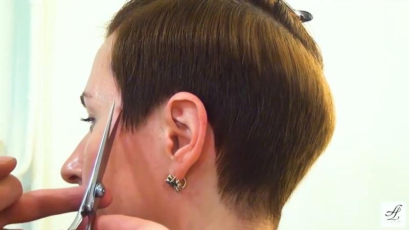 Короткая женская стрижка ПИКСИ обучение парикмахеров Артем Любимов