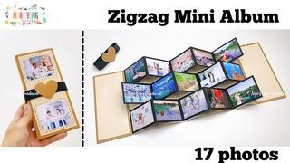 Hướng dẫn làm Album ảnh 3D, Zigzag Mini Album, Thiệp ảnh gợn sóng • NGOC VANG Handmade