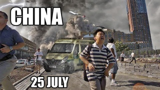China Destroyed by Typhoon In-Fa !  Half a million people were evacuated ! 25 July 2021