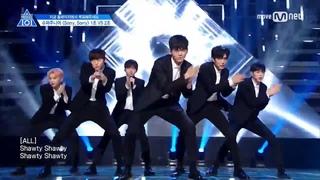 170428 PRODUCE 101 season2 Super Junior - Sorry Sorry [TEAM 2]