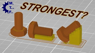3D printing bolt and thread in horizontal or vertical position - strength test