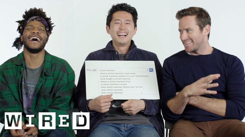 Steven Yeun Armie Hammer Jermaine Fowler Answer the Web's Most Searched Questions WIRED