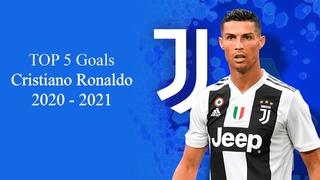 TOP 5 GOALS CRISTIANO RONALDO 2020-2021 JUVENTUS
